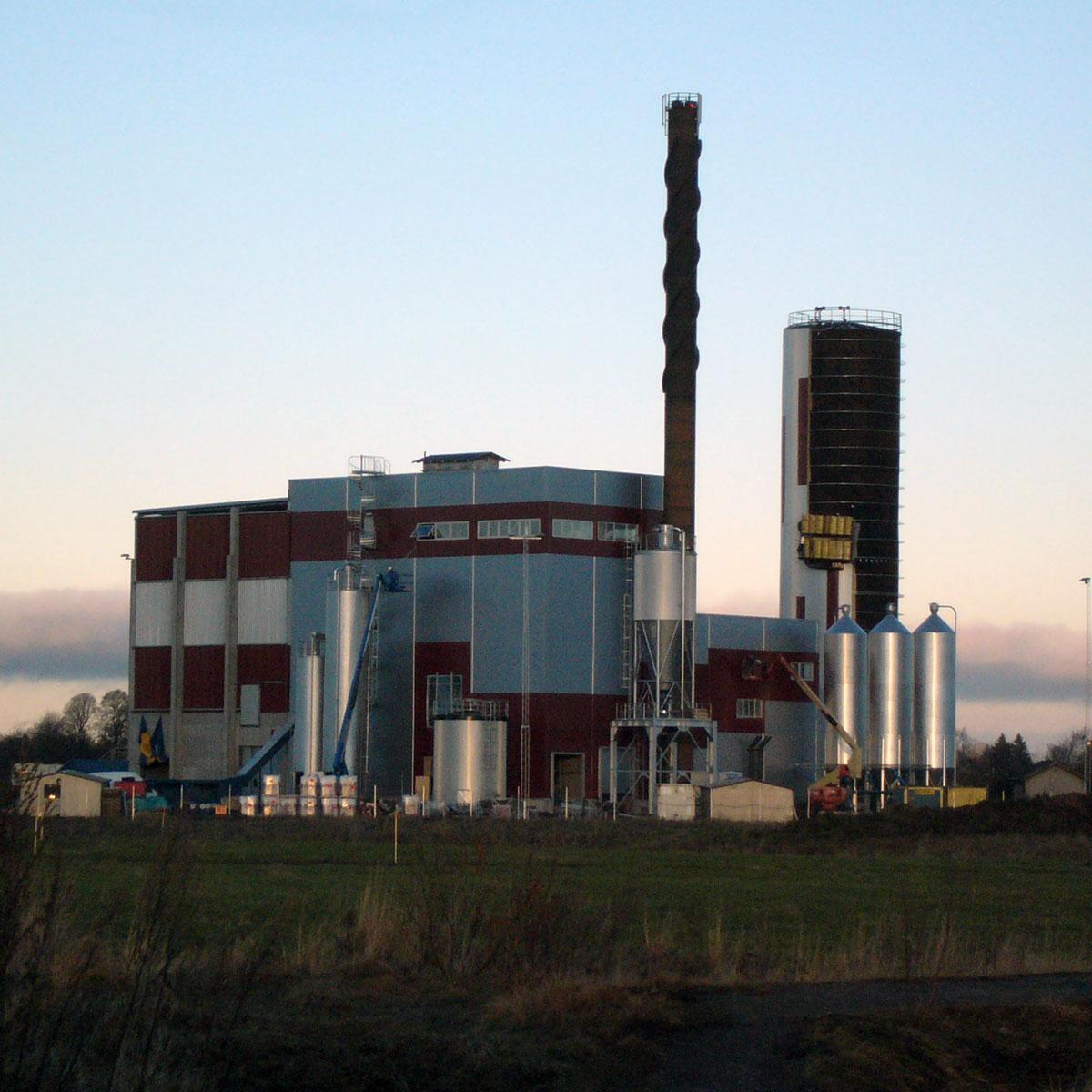 Fjärrvärme som levereras av Tidaholms Energi